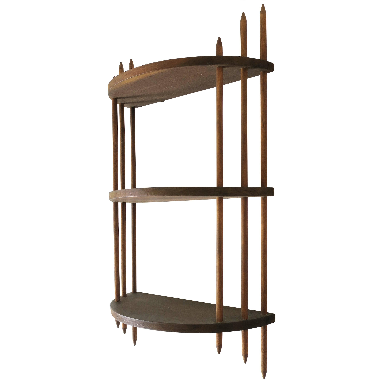Art Deco Modern Period Wood Wall Shelf