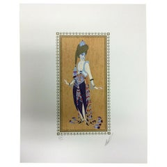 Art Deco Modern Unframed Erté Hand Signed Thousand and One Nights Lithograph