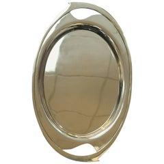 Art Deco Moderne Nickel Silver Tray