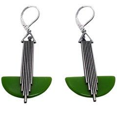 Art Deco Modernist 1930s Drop Earrings