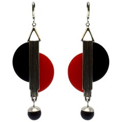 Art Deco Modernist 1930s Drop Earrings