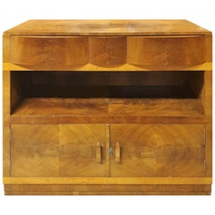 Art Deco Modernist Buffet Sideboard in Walnut and Maple