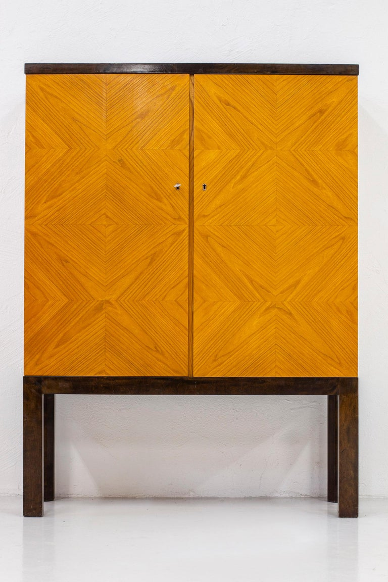 Art Deco/ Modernist Cabinet in the Style of Otto Schulz, Sweden, 1930s For Sale 5