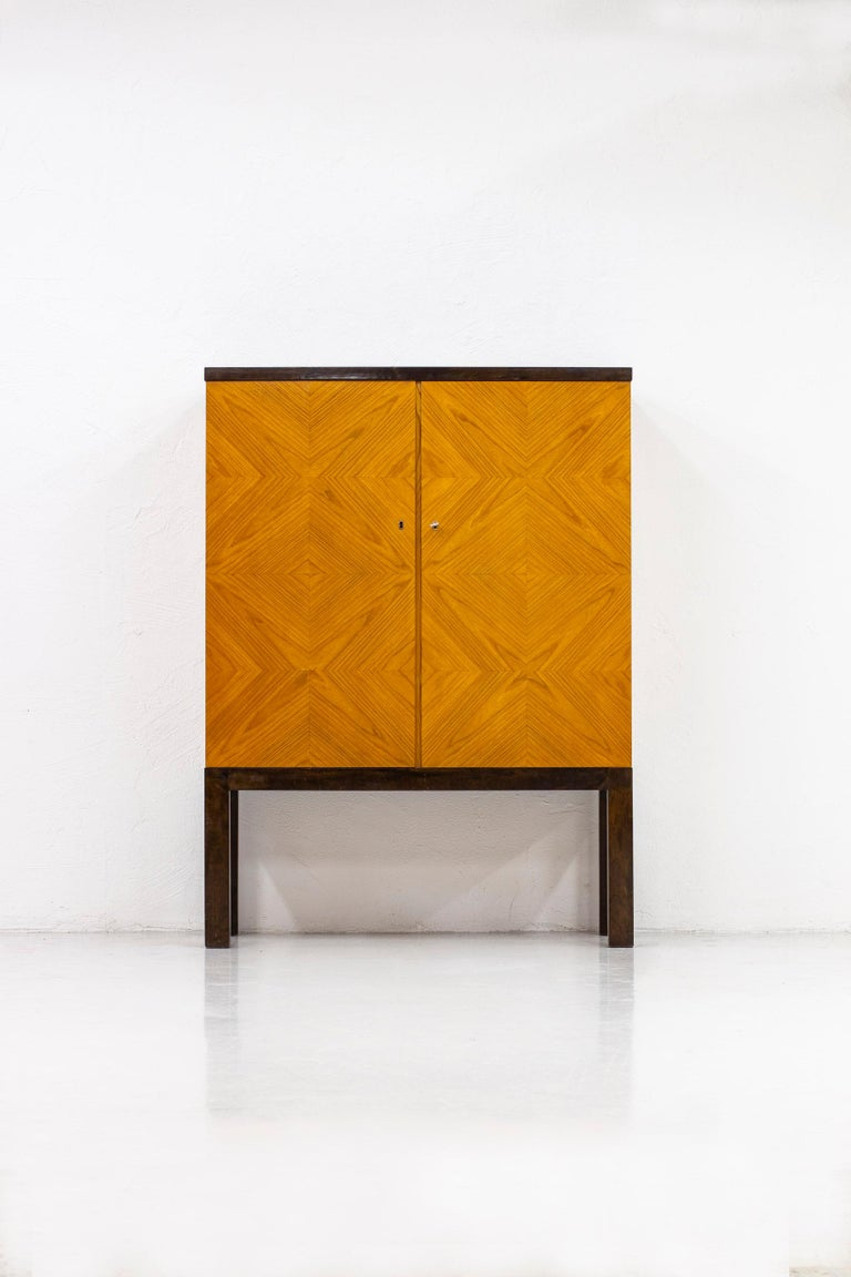 Swedish Art Deco/ Modernist Cabinet in the Style of Otto Schulz, Sweden, 1930s For Sale