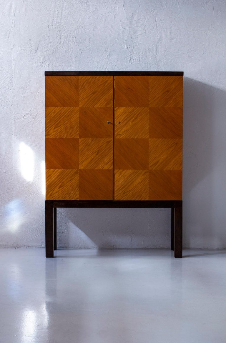 Mid-20th Century Art Deco/ Modernist Cabinet in the Style of Otto Schulz, Sweden, 1930s For Sale
