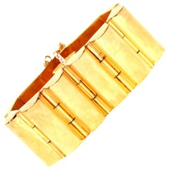 Art Deco Modernist Channeled Cuff Bracelet Vintage