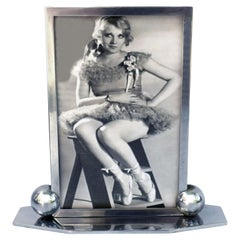 Art Deco Modernist Chrome Picture Frame, circa 1930s