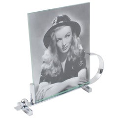 Art Deco Modernist Chrome Picture Frame