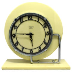 Art Deco Modernist English Clock by GEC, circa 1930