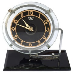 Art Deco Modernist English Clock by GEC, circa 1930