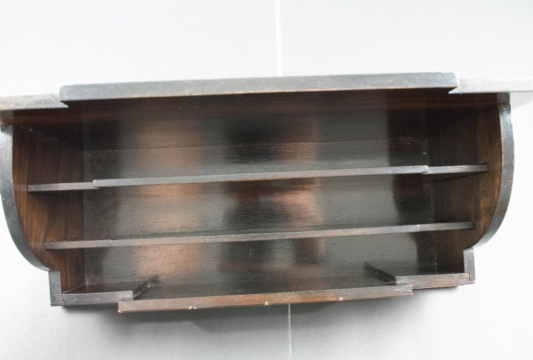 Art Deco Modernist Macassar Wood and Copper Desk Accessory Letter Holder For Sale 6