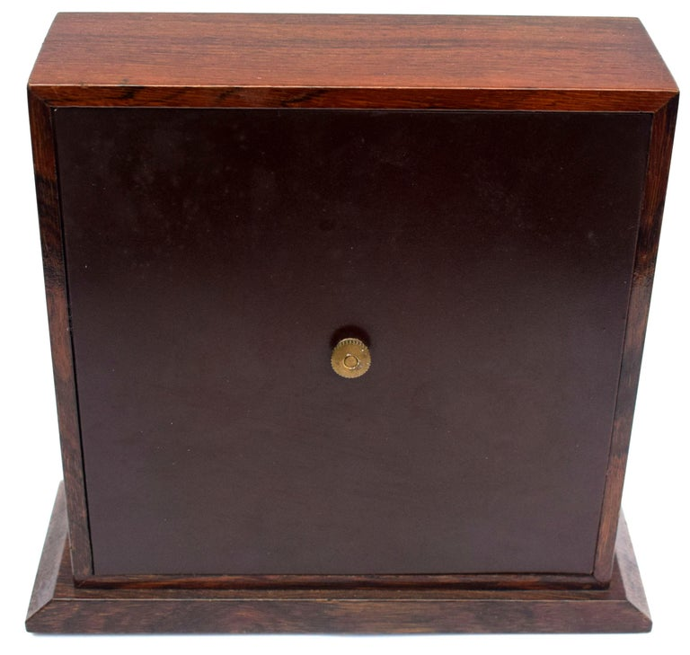 Art Deco Modernist Mantle Clock by ATO, 1930s For Sale 4