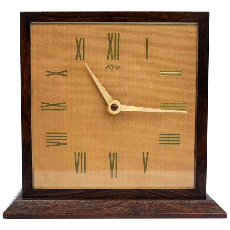 Art Deco Modernist Mantle Clock by ATO, 1930s For Sale