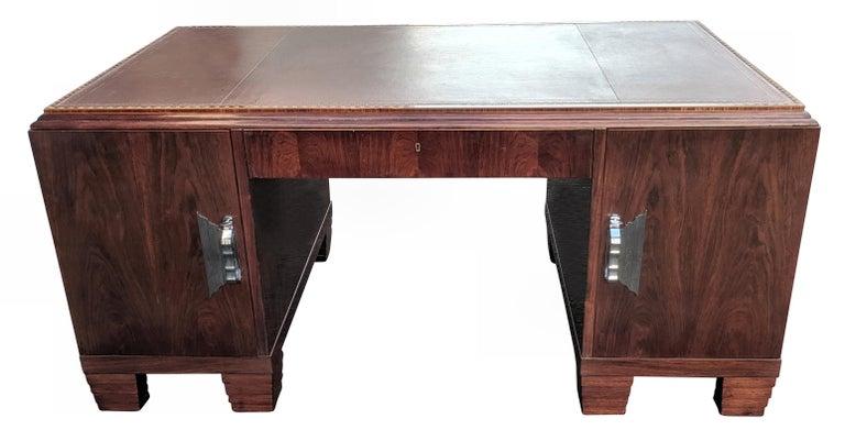 Art Deco Modernist Partners Desk, circa 1930 For Sale 6