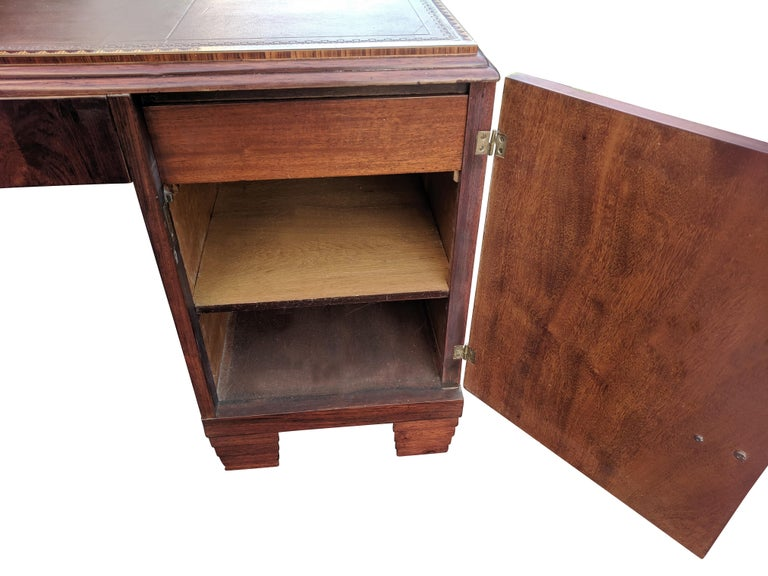 Art Deco Modernist Partners Desk, circa 1930 For Sale 1