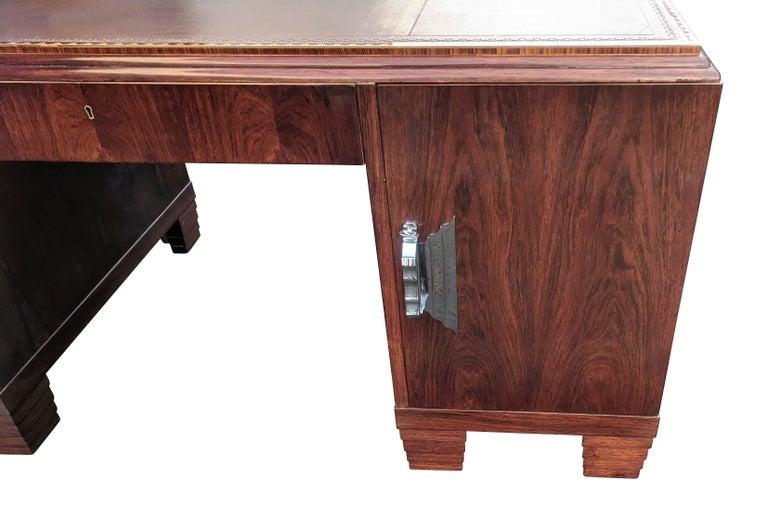 Art Deco Modernist Partners Desk, circa 1930 For Sale 3