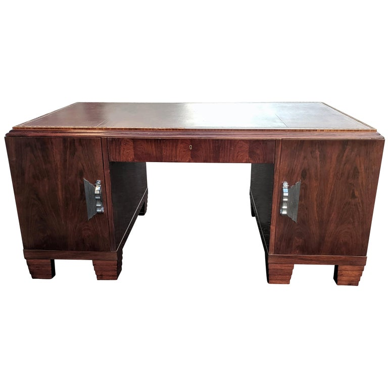 Art Deco Modernist Partners Desk, circa 1930 For Sale