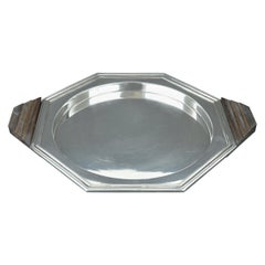 Art Deco Modernist Style Silver Plated Tray