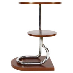 Art Deco Modernist Tubular Table Gueridon or Plant Stand, French, 1930s