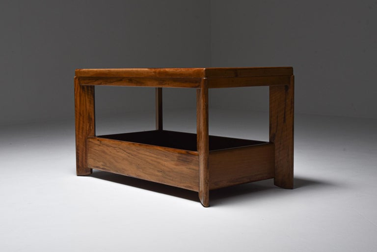 Art Deco Modernist Two Tier Coffee Table by H. Wouda In Excellent Condition For Sale In Antwerp, BE
