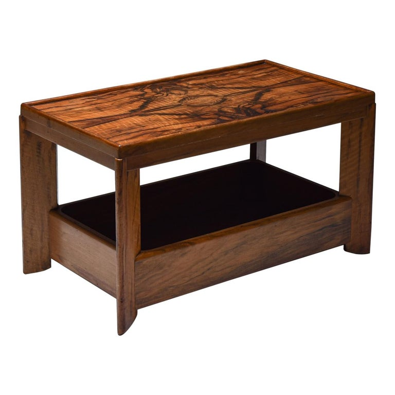 Art Deco Modernist Two Tier Coffee Table by H. Wouda For Sale