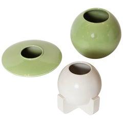 "Art Deco Modernist Vases by Trenton Art Pottery ""Tepeco"", Price Reduced"