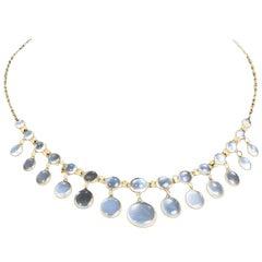 Art Deco Moonstone and 9 Carat Gold Fringe Necklace
