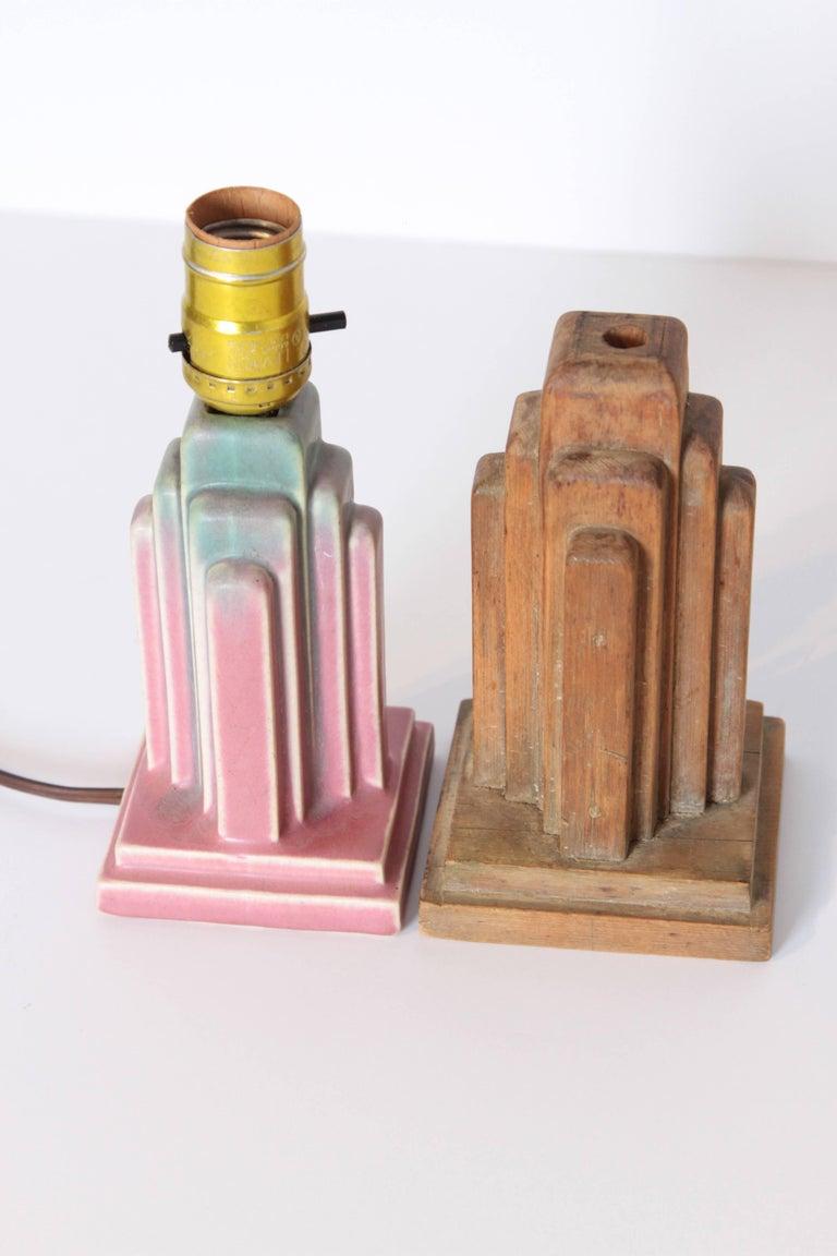American Art Deco Muncie Pottery Skyscraper Designs Attributed to Ruben Haley  For Sale