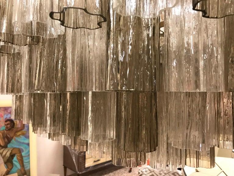 Italian Art Deco Murano Glass Chandelier For Sale