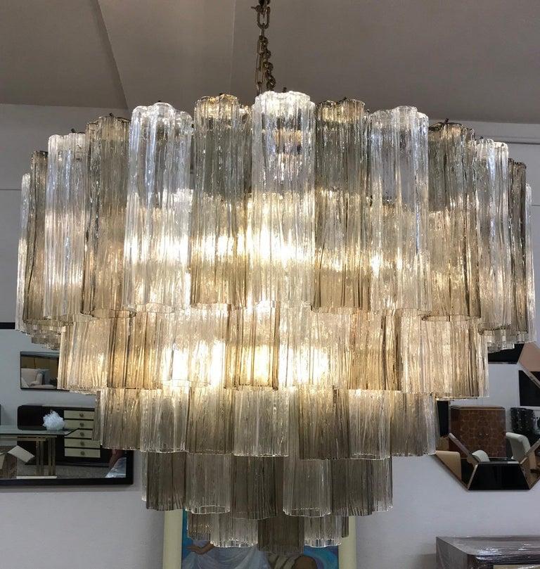 Contemporary Art Deco Murano Glass Chandelier For Sale