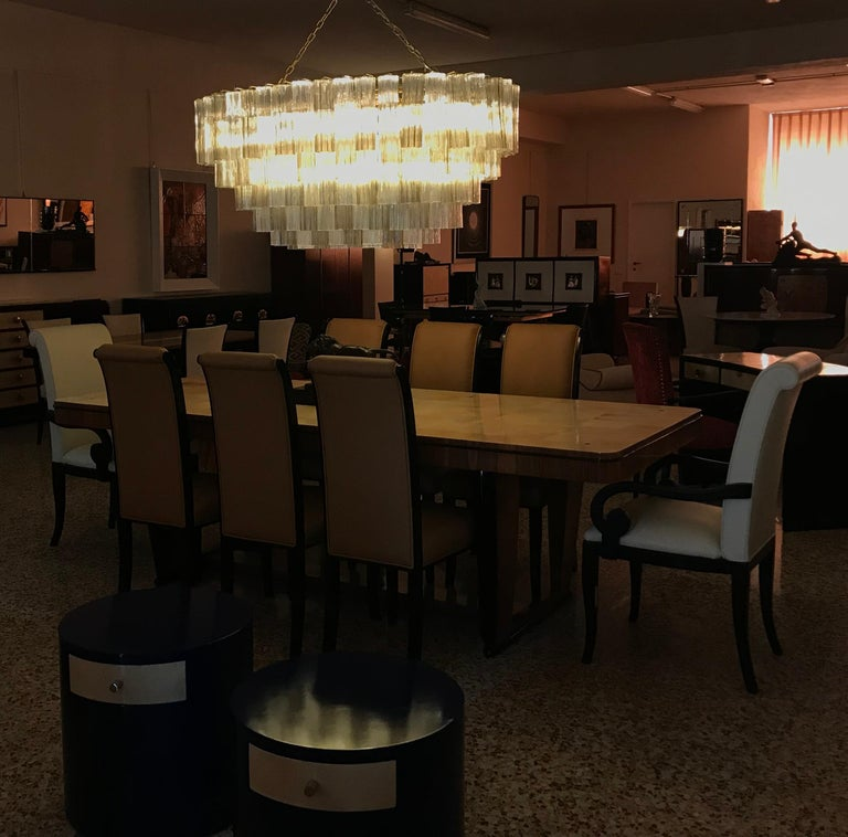 Art Deco Murano Glass Chandelier For Sale 1
