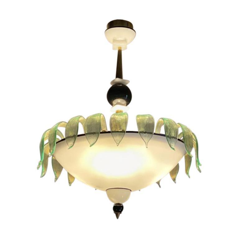 Art Deco Murano Glass Chandelier