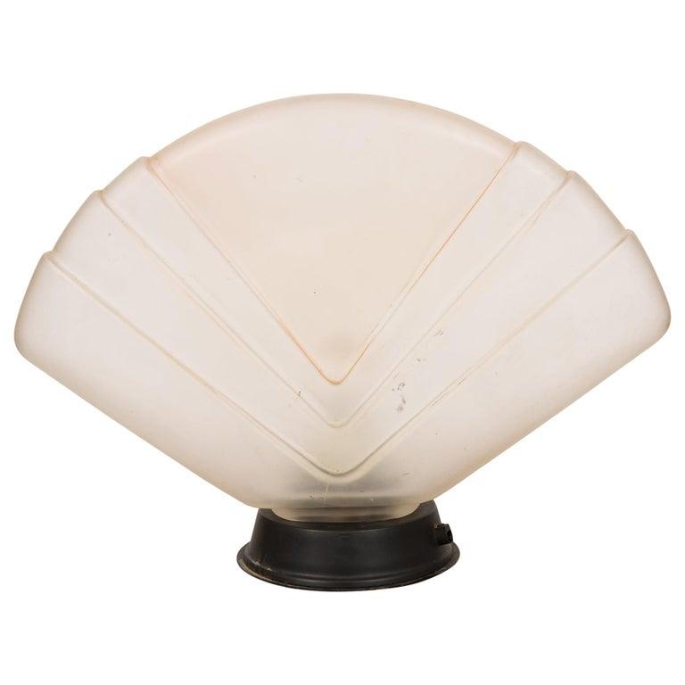 Art Deco Murano Table Lamp  For Sale