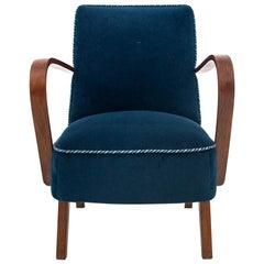 Art Deco Navy Blue Club Chair