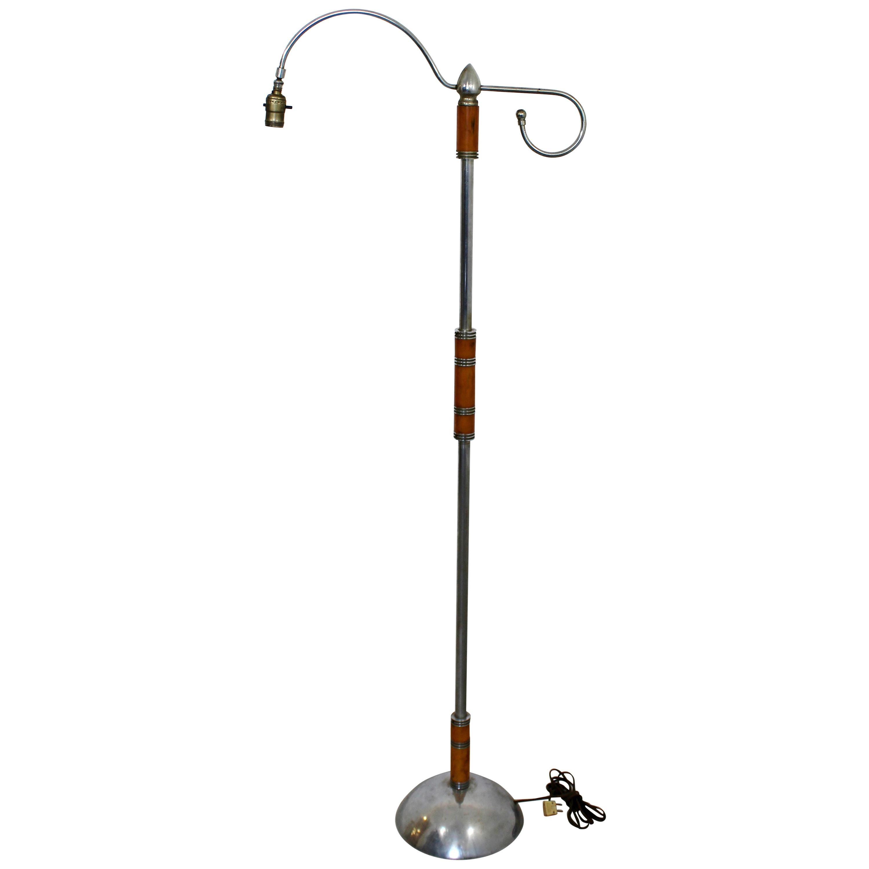 Art Deco Neoclassical Sculptural Bakelite Chrome Floor Lamp 1940s For Sale At 1stdibs