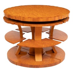 Art Deco Nest of Tables by Harry Lou Epstein, c.1930