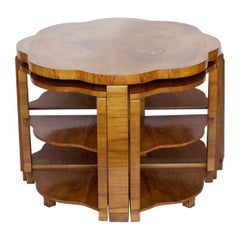 Art Deco Nest of Tables by Harry & Lou Epstein English, circa 1930
