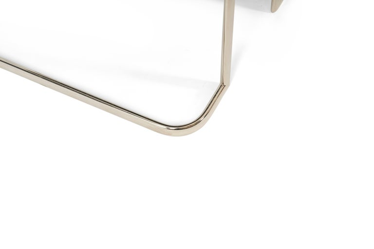 Art Deco Nickel and Lacquer End Tables, 1950s For Sale 1