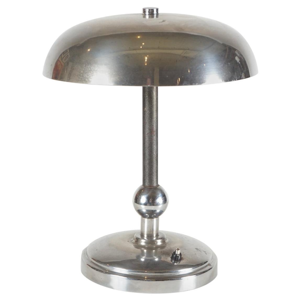 Art Deco Nickel-Plated Lamp