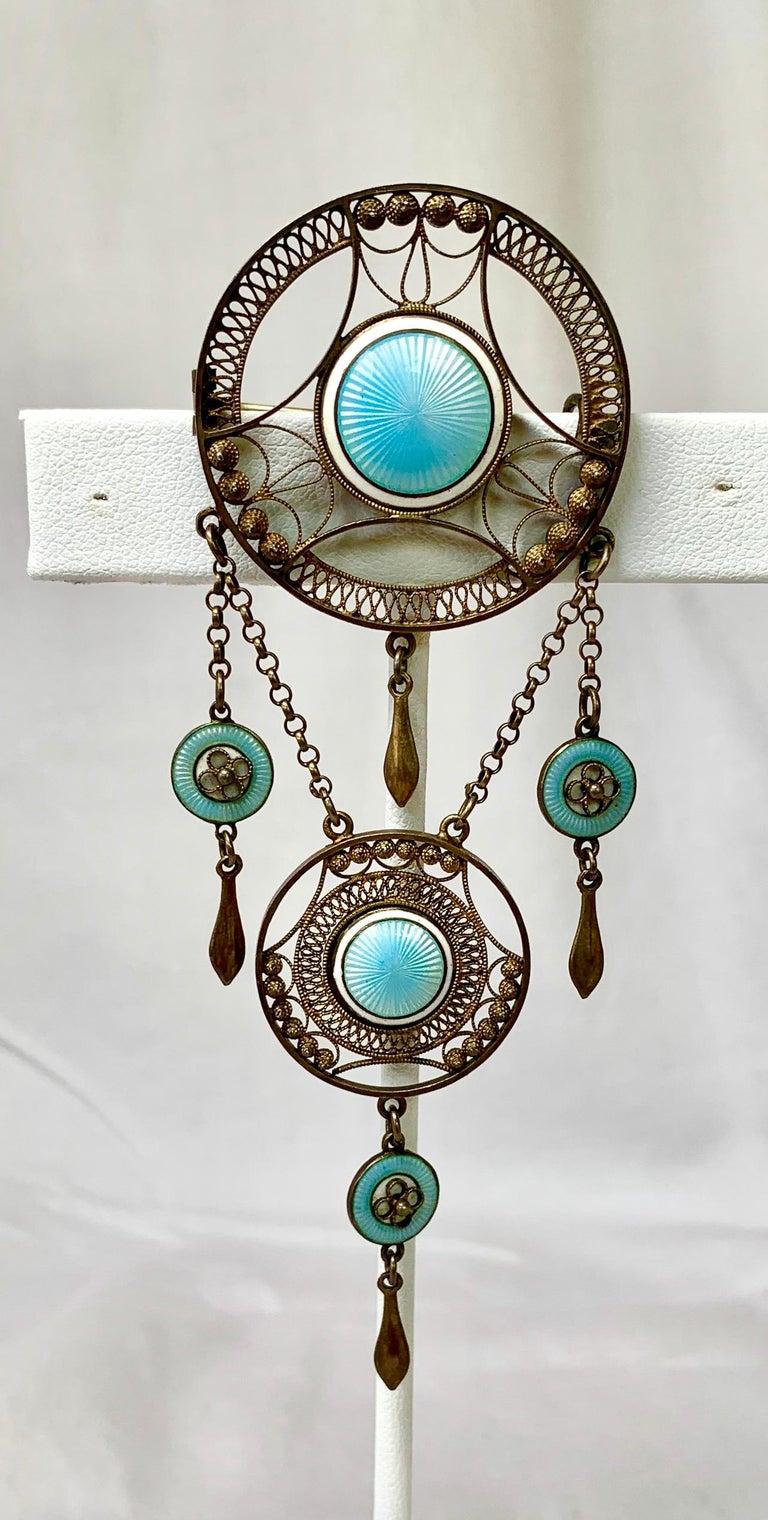 A wonderful Art Deco Brooch by the esteemed Norwegian Jeweler Silversmith Aksel Holmsen.  The