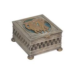 Art Deco /Nouveau Box, Artist-Signed Oscar Bach, circa 1920
