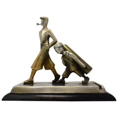 Art Deco Novelty Golfing Match Striker, circa 1930