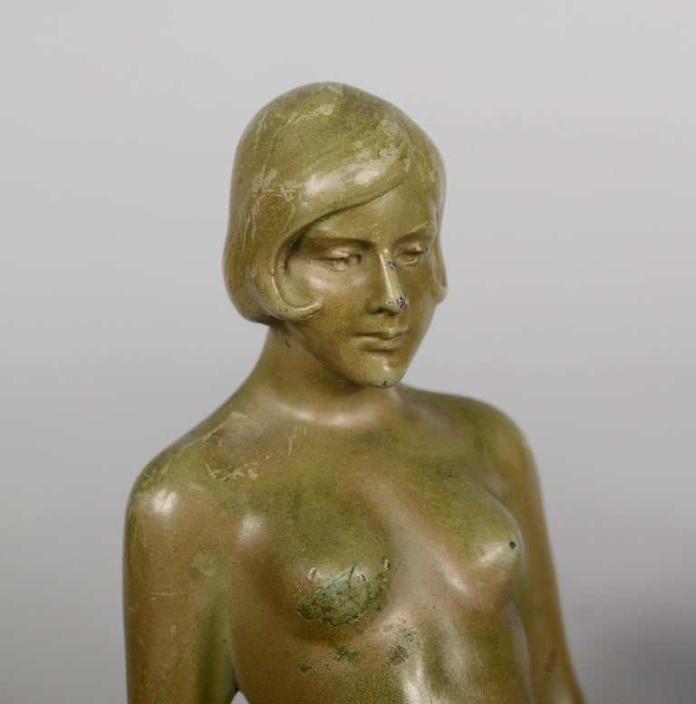 Art Deco Nude Bookends Style of Max Le Verrier For Sale 1