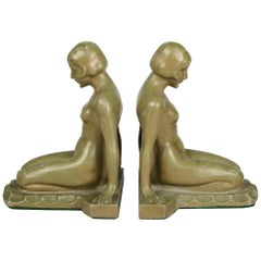 Art Deco Nude Bookends Style of Max Le Verrier