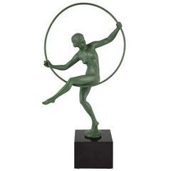 Art Deco Nude Hoop Dancer Briand, Marcel Bouraine