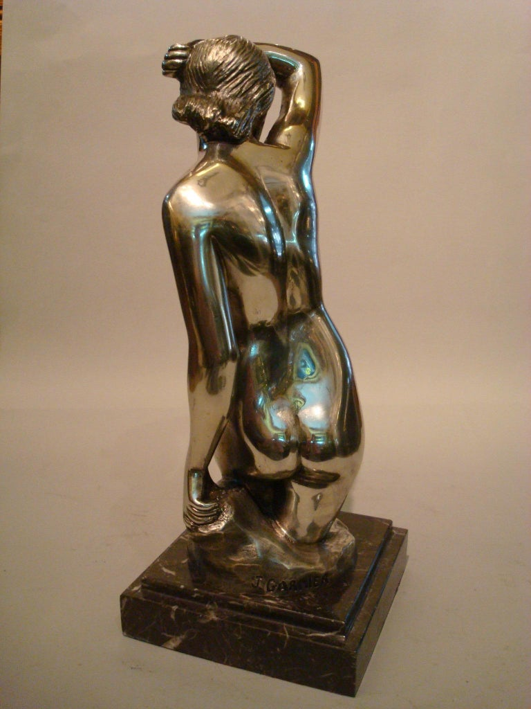 20th Century Art Deco Nude Woman Bronze Sculpture For Sale