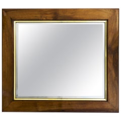 Art Deco Nutwood Wall Mirror, circa 1920s
