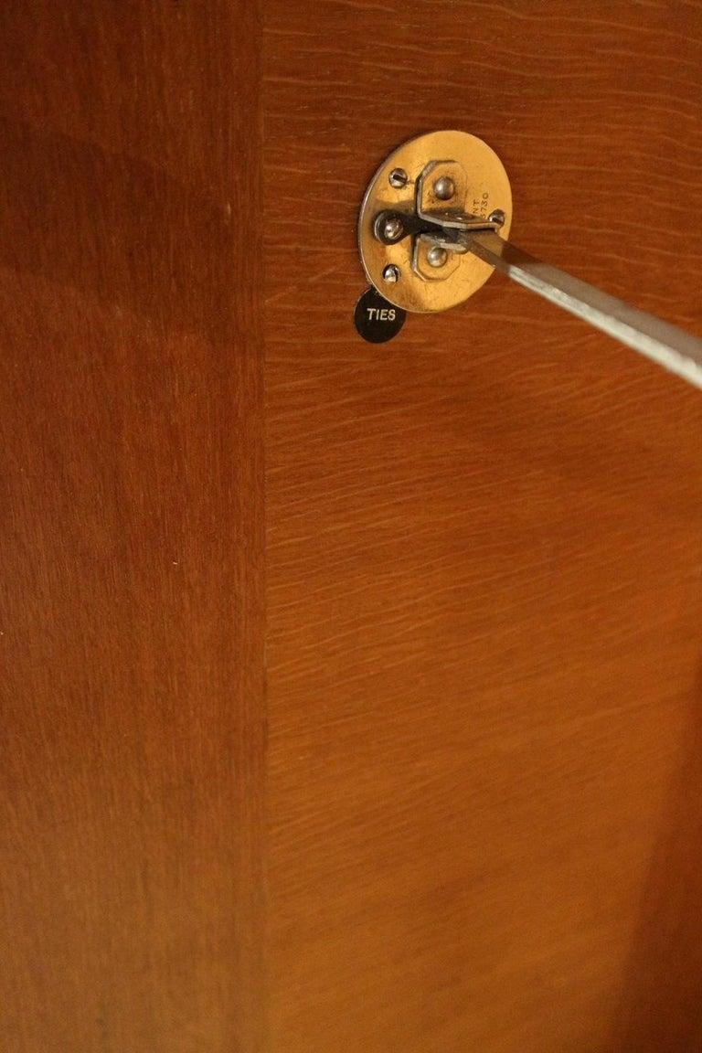 Art Deco Oak Compactom Wardrobe 7