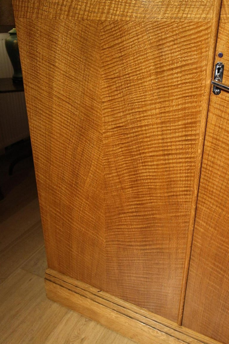 Art Deco Oak Compactom Wardrobe 9