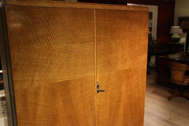 Art Deco Oak Compactom Wardrobe 10